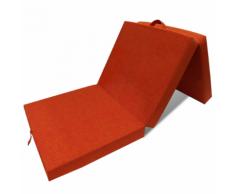 vidaXL Matelas en mousse pliable orange 190 x 70 9 cm