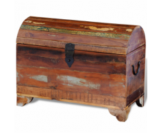 vidaXL Coffre de stockage en bois solide recyclé