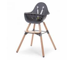 CHILDWOOD Chaise haute bébé 2-en-1 Evolu 2 Anthracite CHEVOCHNA