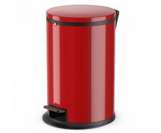 Hailo Poubelle à pédale Pure Taille M 12 L Rouge 0517-040