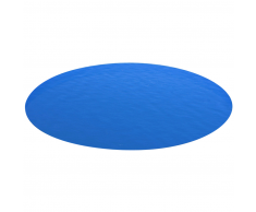 vidaXL Bâche de piscine bleue ronde en PE 549 cm