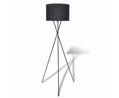 vidaXL Lampe de sol à long trépied Noir