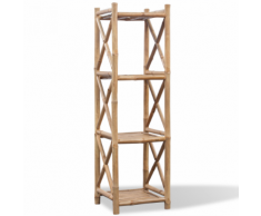 vidaXL Etagère à 4 paliers en bambou