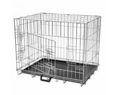 vidaXL Cage en métal pliable pour chien M