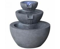 Velda Fontaine en pierre à 3 niveaux avec lumière LED 850908