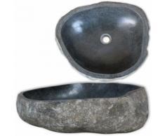 vidaXL Lavabo en pierre de rivière Ovale 30-35 cm
