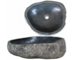 vidaXL Lavabo en pierre de rivière Ovale 30 cm