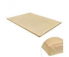 vidaXL Tapis plat rectangulaire pour chien beige taille XL