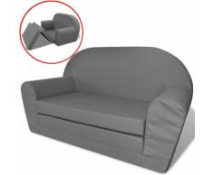 vidaXL Chaise longue pliable pour enfants Gris