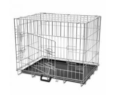 vidaXL Cage en métal pliable pour chien L