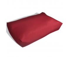 vidaXL Coussin pour le dos 80 x 40 20 cm Rouge vineux