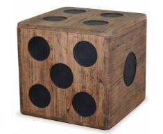 vidaXL Boîte de rangement Bois Mindi 40 x cm Design Dés