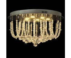 vidaXL Lustre Plafonnier LED en cristal Diamètre de 45 cm