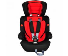 vidaXL Siège auto pour enfants 9-36kg rouge/noir