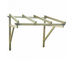 vidaXL Auvent de porte en bois 150 x 100 160 cm