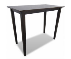 vidaXL Table de bar marron en bois