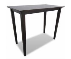 vidaXL Table de bar marron en bois