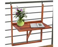 vidaXL Table de balcon en bois pliable