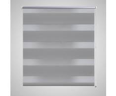 vidaXL Store enrouleur tamisant 80 x 150 cm gris