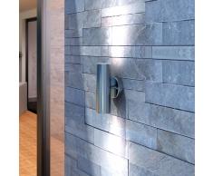 vidaXL Applique Murale en Acier Inoxydable intérieure et extérieure