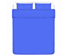vidaXL Trois pièces housse de couette en coton Bleu 200x220/80x80 cm