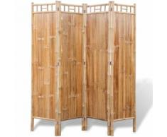 vidaXL Paravent à 4 panneaux en bambou