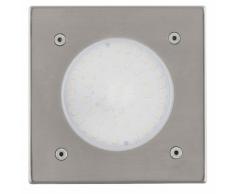 EGLO Projecteur encastrable LED d'extérieur Lamedo 2,5 W Carré argenté