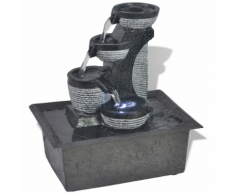 vidaXL Fontaine d'intérieur avec lumière LED Poly-résine