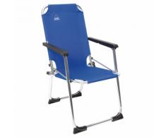 Camp Gear Chaise de camping pliable pour enfants Bleu Aluminium