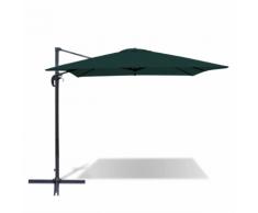 vidaXL Parasol en porte-à-faux carré aluminium vert 2,5x2,5 m