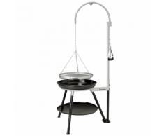 Landmann Barbecue au charbon avec trépied Geos 53 cm Noir et argenté