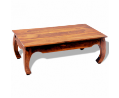 vidaXL Opium Table basse d'appoint en bois massif Sheesham 40cm