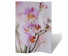 vidaXL Paravent 120 x 180 fleurs