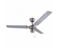 """Bestron Ventilateur de plafond 122 cm/48"""" 60 W DT48C chromé"""
