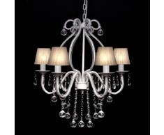 vidaXL Lustre néo baroque plafonnier 6 feux 2300 pampilles cristal