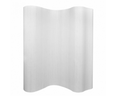 vidaXL Paravent en bambou blanc