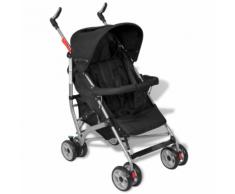 vidaXL Poussette pour bébé inclinable en 5 positions noir