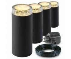 Garden Lights Lampe LED d'extérieur Linum 4 pcs Plastique 2519064