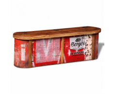 vidaXL Banc / buffet de stockage en bois solide recyclé