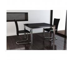 vidaXL Lot de 2 chaises contemporaines salle à manger noires