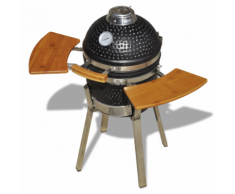 vidaXL Kamado Barbecue au charbon de bois en céramique 76 cm