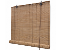 vidaXL Store enrouleur bambou brun 120 x 160 cm