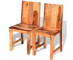 vidaXL Chaises de salle à manger en bois Sheesham massif 2 pièces