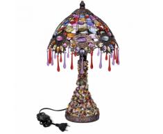 vidaXL Lampe de chevet avec perles en crystal multicouleur