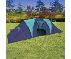 vidaXL Tente de camping 9 personnes Bleu foncé et