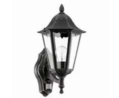 """EGLO Lampe murale extérieur """"Navedo"""" avec détecteur 60 W Noir"""