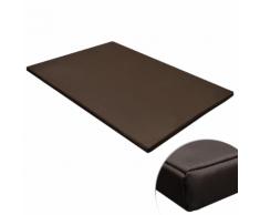 vidaXL Tapis plat rectangulaire pour chien marron taille L