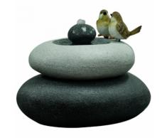 Velda Fontaine de jardin Oiseaux sur pierre double