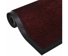 vidaXL Tapis rectangulaire antidérapant 90 x 60 cm Rouge