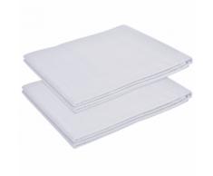 vidaXL Drap pour lit 2 pièces Coton 240 x 260 cm Blanc